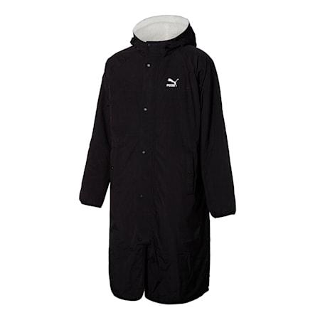 쉐르파 리버시블 롱 자켓/Sherpa Reversible Bench Coat, whisper white-puma black, small-KOR