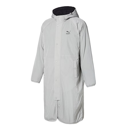 쉐르파 리버시블 롱 자켓/Sherpa Reversible Bench Coat, ultra grey-gray violet, small-KOR