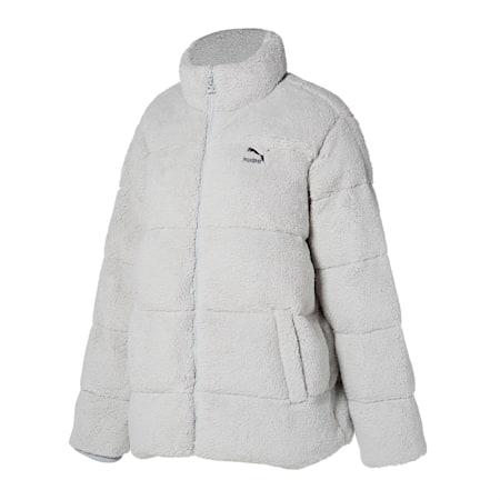 쉐르파 퀼팅 자켓/Sherpa Quilted Jacket, gray violet, small-KOR