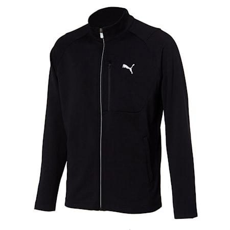더블 니트 트레이닝 자켓, puma black, small-KOR