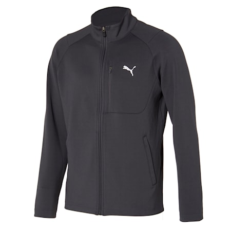 더블 니트 트레이닝 자켓, ultra grey, small-KOR
