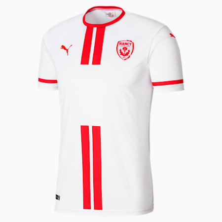 AS Nancy Lorraine Home Men's Replica Jersey, Puma White-Puma Red, small