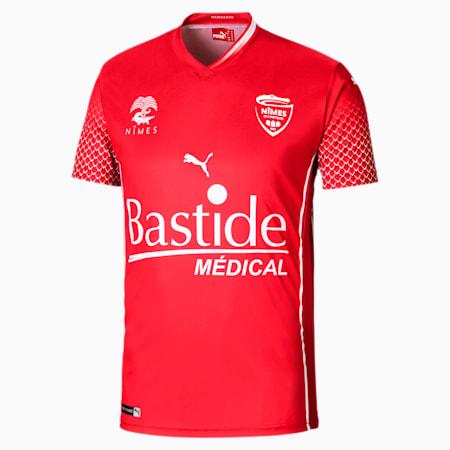 Camiseta para hombre de réplica de la 1.ª equipación del Nîmes Olympique, Puma Red, small