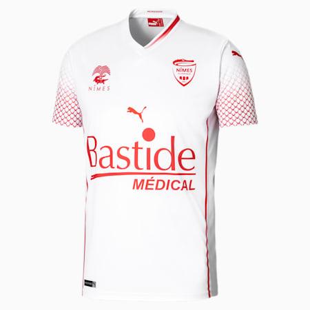 Męska replika wyjazdowej koszulki Nîmes Olympique, Puma White, small