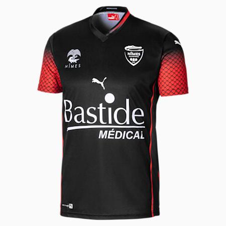 Męska replika dodatkowej koszulki Nîmes Olympique, Puma Black, small