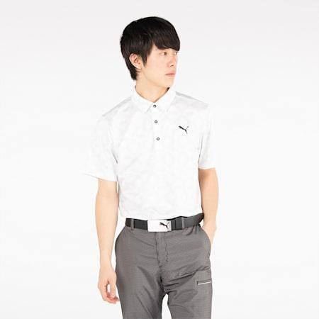 ゴルフ モノグラム SS ポロシャツ 半袖, Bright White, small-JPN