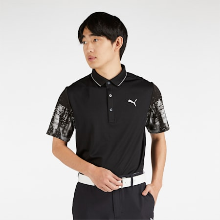 ゴルフ TOKYO NIGHT スリーブ SS ポロシャツ 半袖, Puma Black, small-JPN