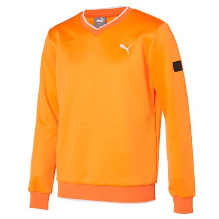 v넥 크루/V-neck Trainer, Vibrant Orange Heather, small-KOR