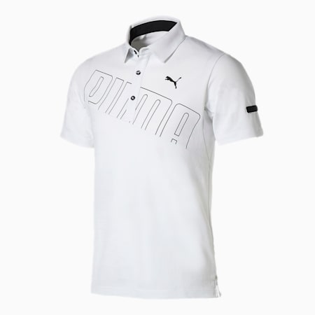 ゴルフ ビッグ プーマ ロゴ 半袖 ポロシャツ, Bright White, small-JPN