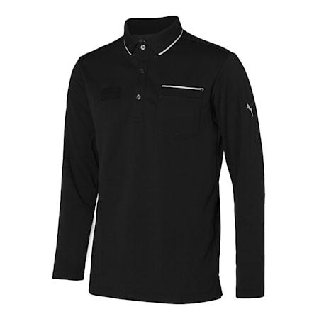 포켓 긴팔 폴로 티셔츠/General Pocket LS Polo, Puma Black, small-KOR