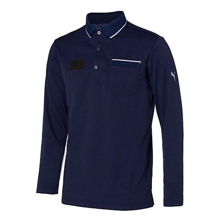 포켓 긴팔 폴로 티셔츠/General Pocket LS Polo, Peacoat, small-KOR
