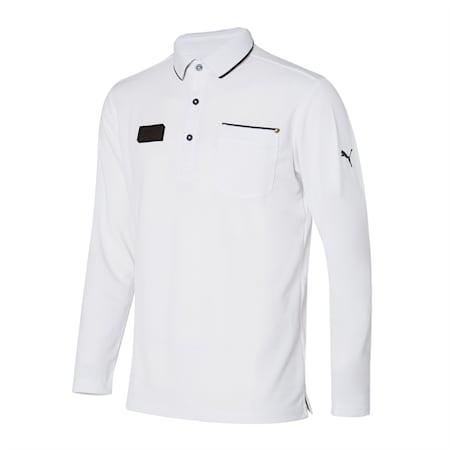 포켓 긴팔 폴로 티셔츠/General Pocket LS Polo, Bright White, small-KOR