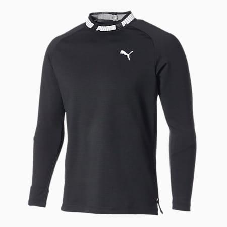 ゴルフ タイトスリーブ モックネック ポロシャツ, Puma Black, small-JPN