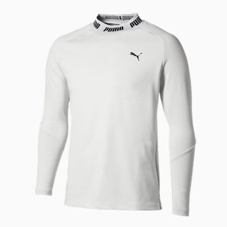 ゴルフ タイトスリーブ モックネック ポロシャツ, Bright White, small-JPN
