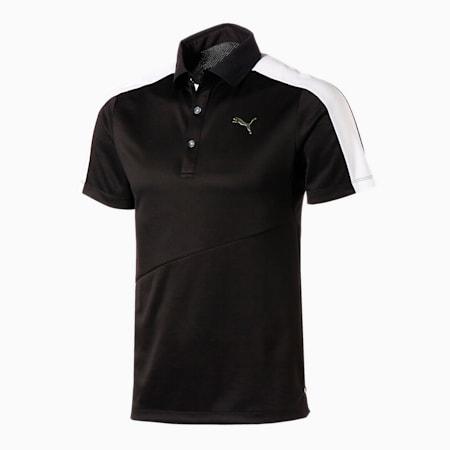 ゴルフ T7 スイングカット 半袖 ポロシャツ, PUMA BLACK, small-JPN