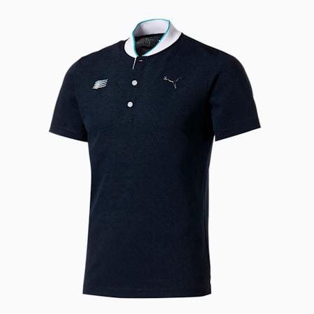 ゴルフ BBカラー 半袖 ポロシャツ, NAVY BLAZER, small-JPN