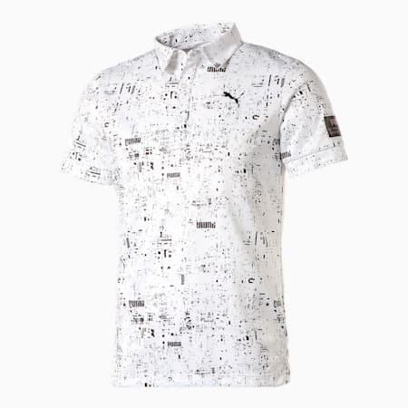 ゴルフ NIGHT DIGI 半袖 ポロシャツ, BRIGHT WHITE, small-JPN