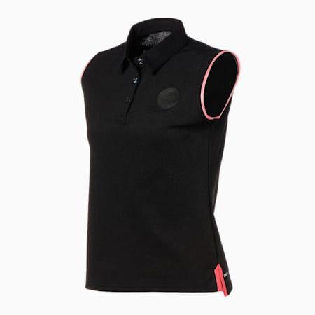 ゴルフ ウィメンズ ノースリーブ ポロシャツ, PUMA BLACK, small-JPN