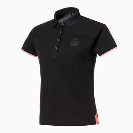 ゴルフ ウィメンズ カラーブロック 半袖 ポロシャツ, PUMA BLACK, small-JPN