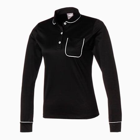 ゴルフ EGW ウィメンズ ポケット 長袖 ポロシャツ, PUMA BLACK, small-JPN