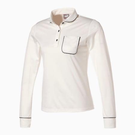 ゴルフ EGW ウィメンズ ポケット 長袖 ポロシャツ, BRIGHT WHITE, small-JPN