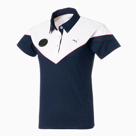 ゴルフ ウィメンズ カラーブロック 半袖 ポロシャツ, NAVY BLAZER, small-JPN