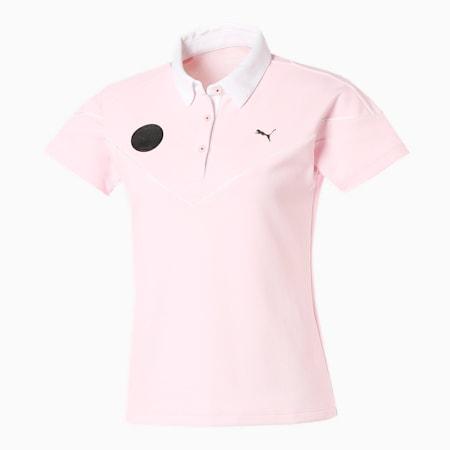 ゴルフ ウィメンズ カラーブロック 半袖 ポロシャツ, PARFAIT PINK, small-JPN