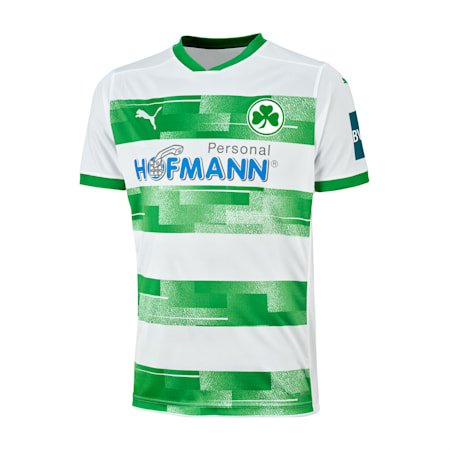 SpVgg Greuther Fürth Home Youth Jersey, Puma White-Bright Green, small