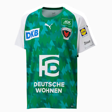 Młodzieżowa domowa koszulka Füchse Berlin, Pep. Green-Bri. Green-White, small