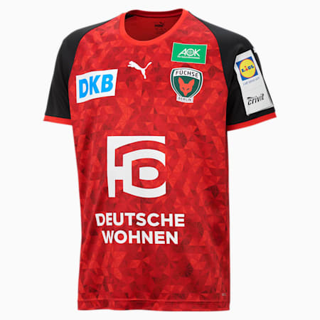 Męska wyjazdowa koszulka Füchse Berlin, Puma Red-Puma Black, small