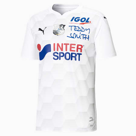 Amiens SC Replica thuisshirt voor heren, Puma White-Gray Violet, small