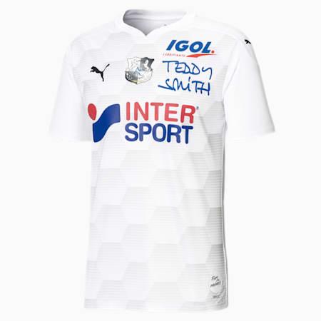 Męska replika domowej koszulki Amiens SC, Puma White-Gray Violet, small