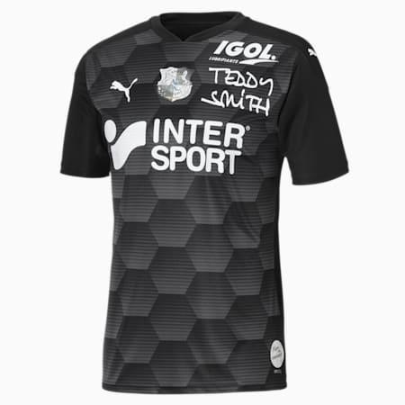 Męska replika wyjazdowej koszulki Amiens SC, Puma Black-Asphalt, small