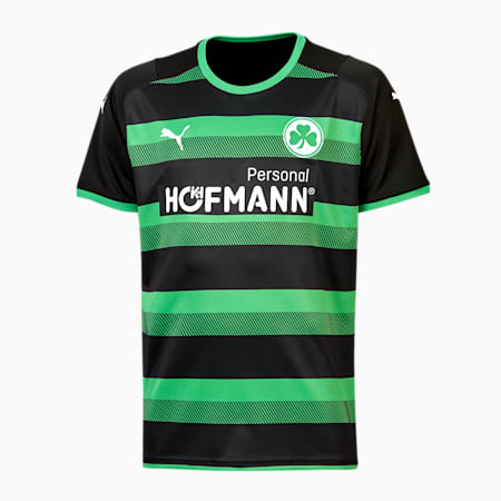 SpVgg Greuther Fürth Away Youth Jersey 21/22, Puma Black-Bright Green, small