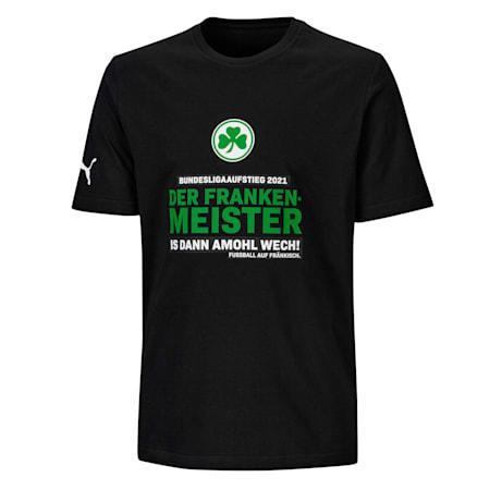 SpVgg Greuther Fürth Aufstieg 1.Bundesliga 2020-2021 Men's Tee, Puma Black, small