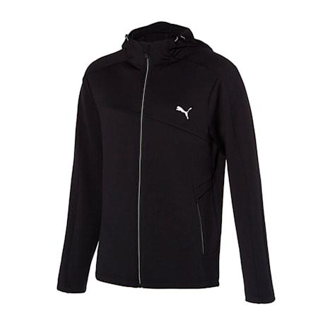 뉴 코어 니트 트레이닝 자켓, puma black, small-KOR
