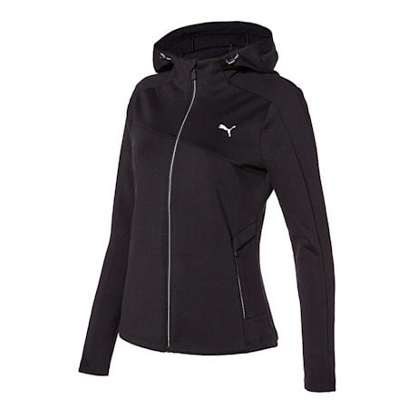 뉴 코어 니트 트레이닝 자켓/New Core Knit Training JKT W, puma black, small-KOR