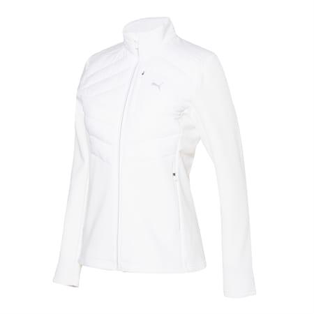 윈드 어택 패딩 자켓 여성 바람막이/Wind Attack Padding JKT W, puma white, small-KOR