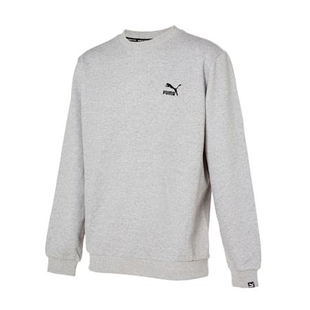 클래식 엠보 로고 크루 맨투맨/Classics Emb Logo Crew, medium grey heather, small-KOR