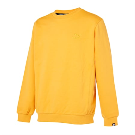 클래식 엠보 로고 크루 맨투맨/Classics Emb Logo Crew, mineral yellow, small-KOR