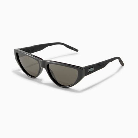 Rubber Eyes Cat Eye Sunglasses, BLACK-BLACK-BLACK, small