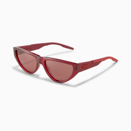 Rubber Eyes Cat Eye Sunglasses, BURGUNDY-BURGUNDY-RED, small