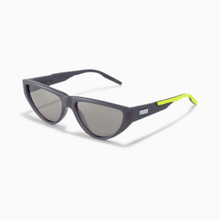 Rubber Eyes Cat Eye Sunglasses, GREY-GREY-GREY, small