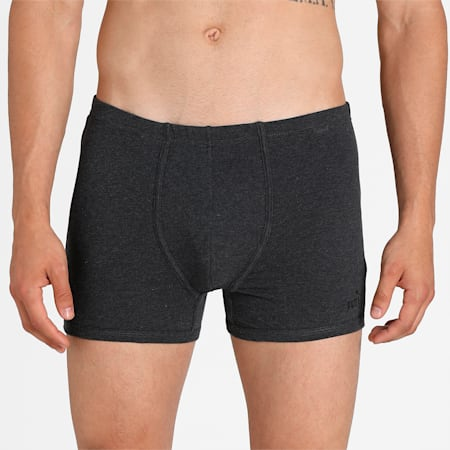 Stretch Plain Men's  Trunk Pack of 2, Red/Medium Grey, small-IND