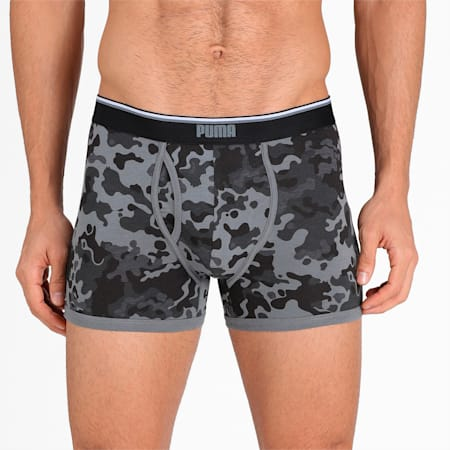 Stretch Camo Men's Trunk Pack of 2, Peacoat/Black, small-IND
