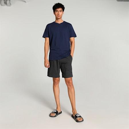 Basic  Men's Boxer +  T-shirt  Set, Peacoat/Midium grey, small-IND