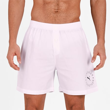 Stretch Men's  Basic Boxer Pack of 1, White, small-IND