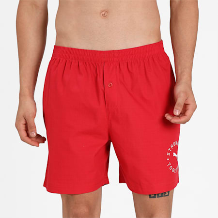 Stretch Men's  Basic Boxer Pack of 1, Red, small-IND