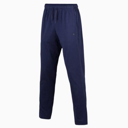 Basic  Men's  T-shirt + Jogger Set, Rhubarb/Peacoat, small-IND