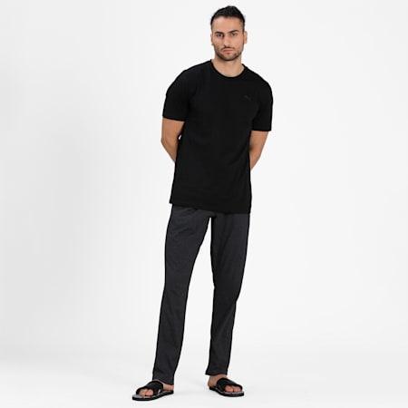 Basic  Men's  T-shirt + Jogger Set, Black/Mid Grey, small-IND